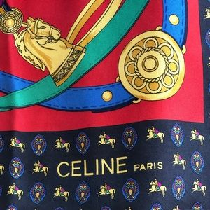 CELINE PARIS. HORSE AWARDS AND RIBBONS SCARF 🐎